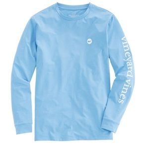 Vineyard Vines performance blue shirt